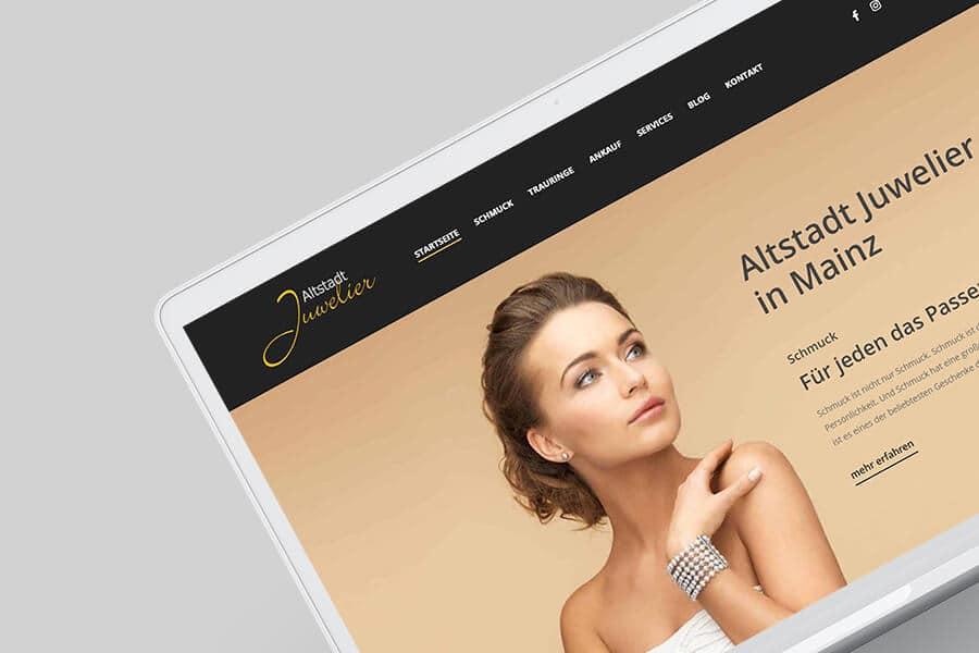Altstadt Juwelier Mainz: Ein neues Gesicht für die Webseite