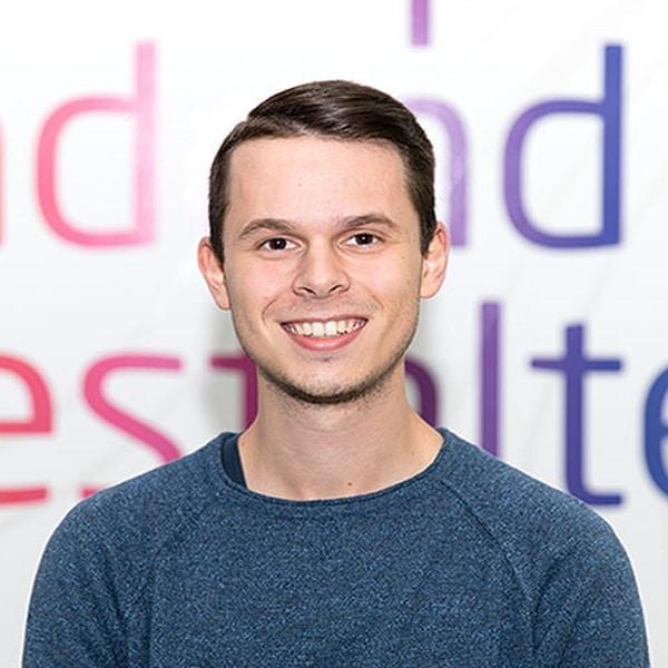 Kevin Uhde, Auszubildender bei VRM Digital